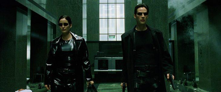 Escena de la película de Matrix
