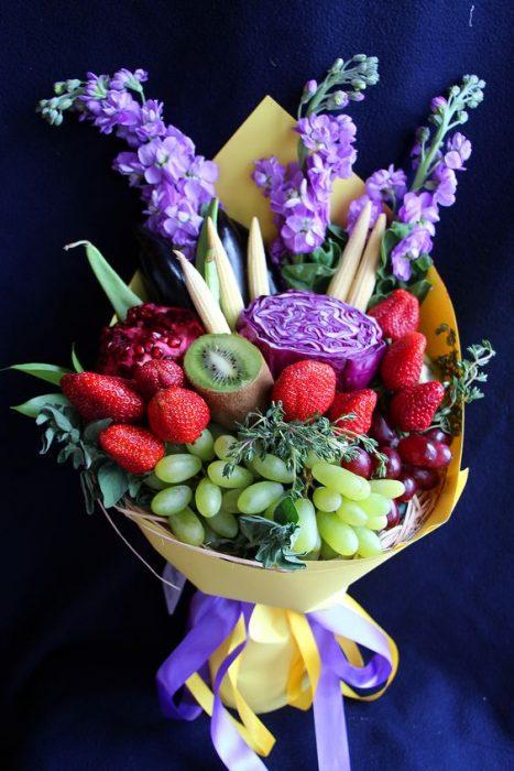 ramo con frutas para regalar