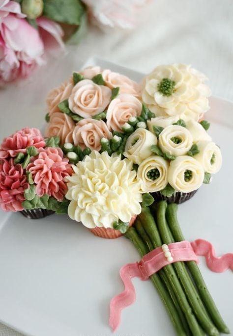 ramo con cupcakes