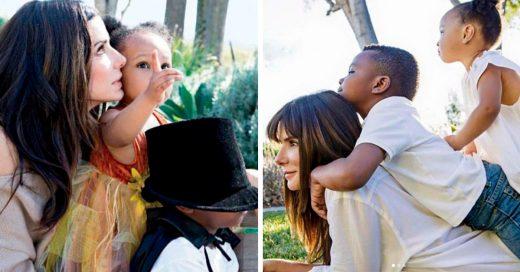 Sandra Bullock pide que a la gente que deje de decir la frase 'hijos adoptados'