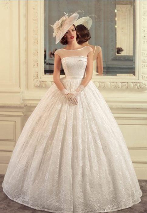 vestidos de novia inspirados en los años 40 que son hermosos