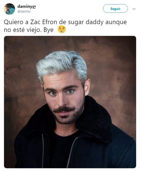 comentario en Twitter sobre Zac Efron