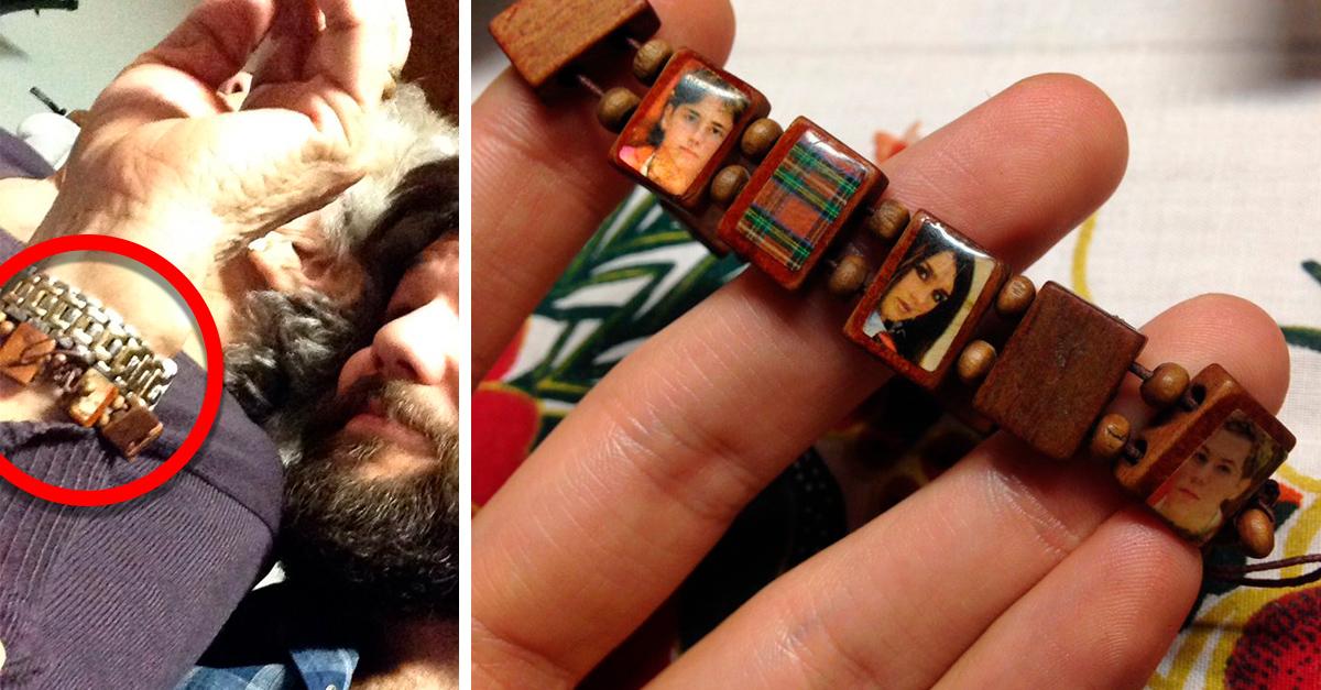 Abuela confunde pulsera de RBD con su rosario de santos, y les reza todos los días