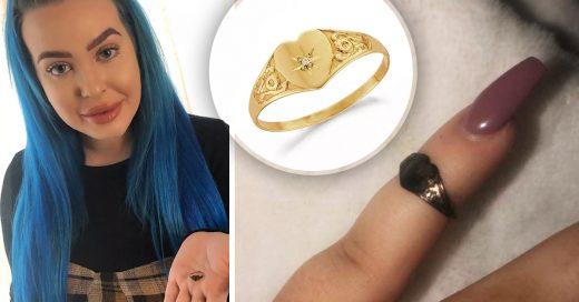 Chica estornuda y de su nariz sale el anillo que había perdido hace 12 años