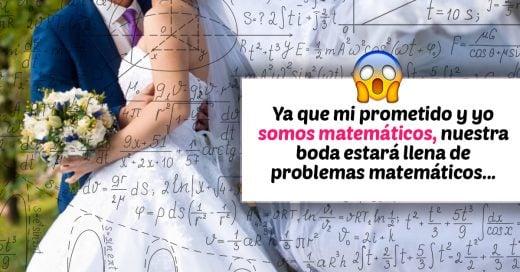 Novia pide que sus invitados resuelvan problemas matematicos si quieren asistir a la boda