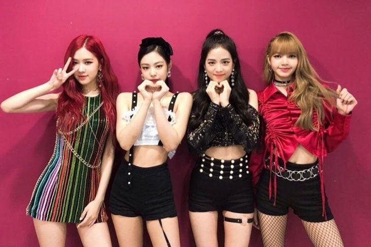cuatro chicas coreanas grupo kpop black pink
