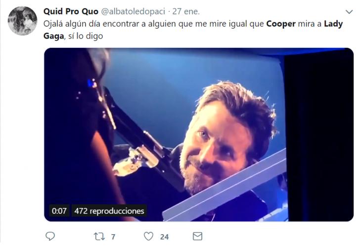captura de twitter hombre bradley cooper
