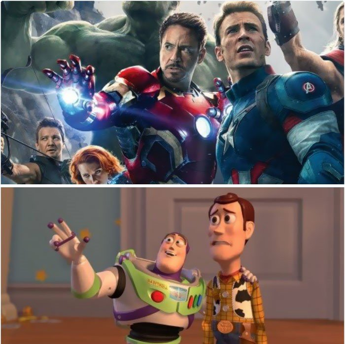 hombres con traje de superheroes con toy story