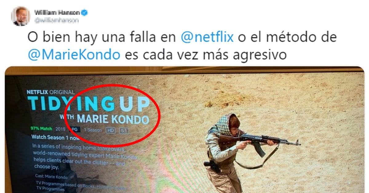 Reacciones que los usuarios compartieron del error de Netflix con Marie Kondo