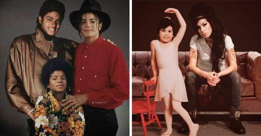 29 Celebridades posando con su yo del pasado gracias a la magia de Photoshop