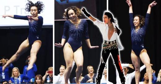 Gimnasta fan de Michael Jackson se vuelve inspiración en Internet; ¡obtuvo un 10 perfecto!