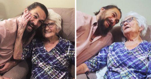Jason Momoa demuestra que la familia no se olvida y visita a su abuela en Iowa