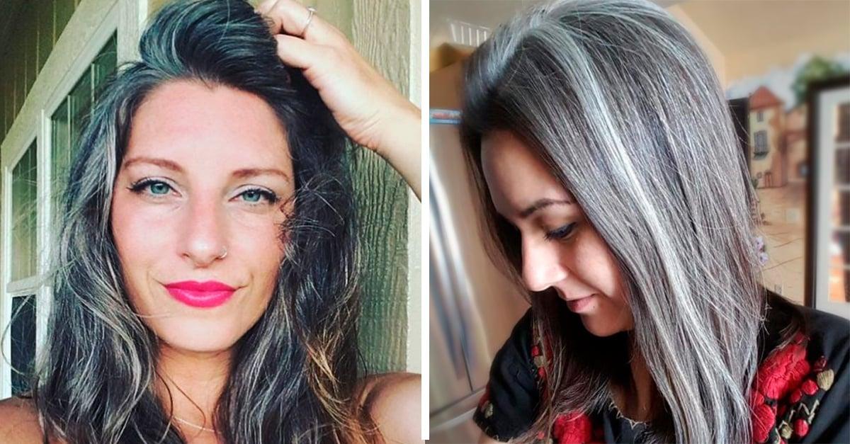 Estas mujeres con canas te convencerán a teñir tu cabello igual