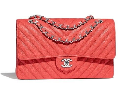 bolso channel y color coral