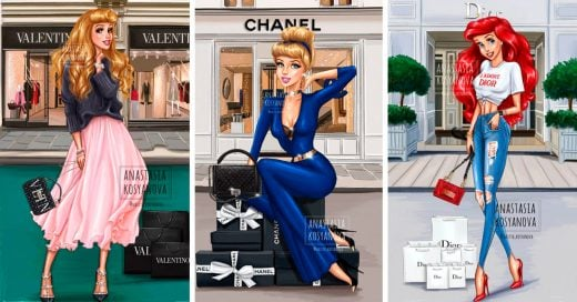 Artista Rusa ilustra a las Princesas de Disney como chicas fashionistas