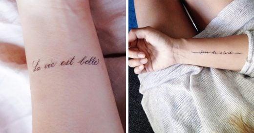 14 Tatuajes con frases en el idioma más romántico de todos: ¡francés!