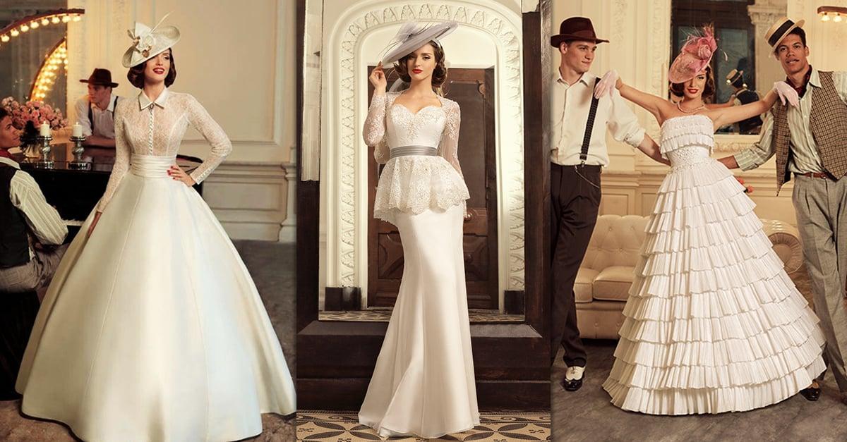 15 Vestidos de novia inspirados en los años 40 que te darán ganas de casarte