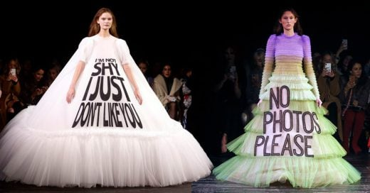 ¡Dilo con un vestido! Pasarela de alta costura se convierte en una carpeta de memes