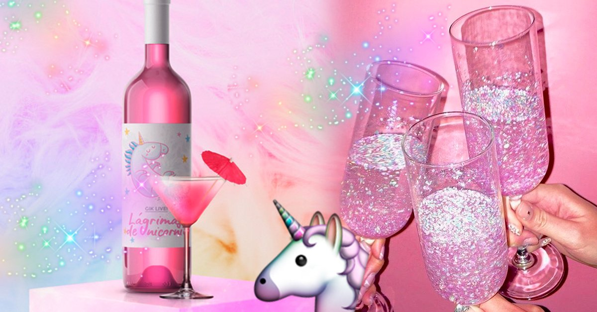 Este vino de lágrimas de unicornio es todo lo que necesitas para brindar en tus fiestas