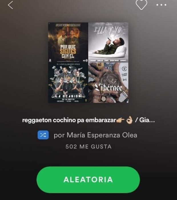 captura de pantalla spotify