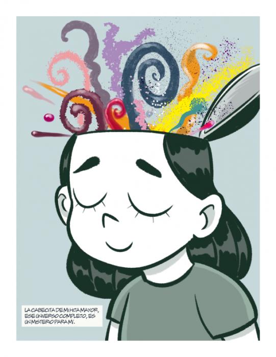ilustración de cómic habla maría autismo novela gráfica