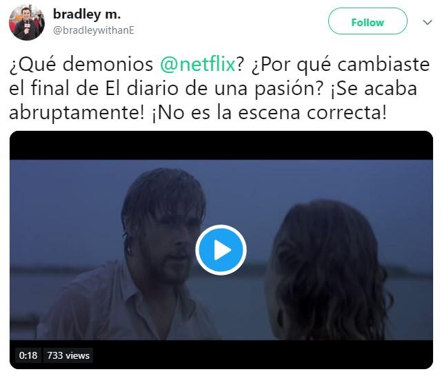 Netflix pone final alternativo de El diario de una pasión y los fans no están contentos