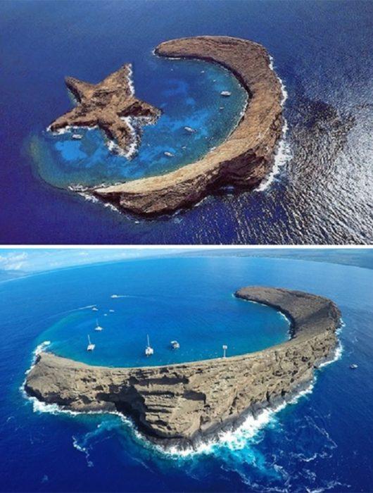 isla en forma de media luna