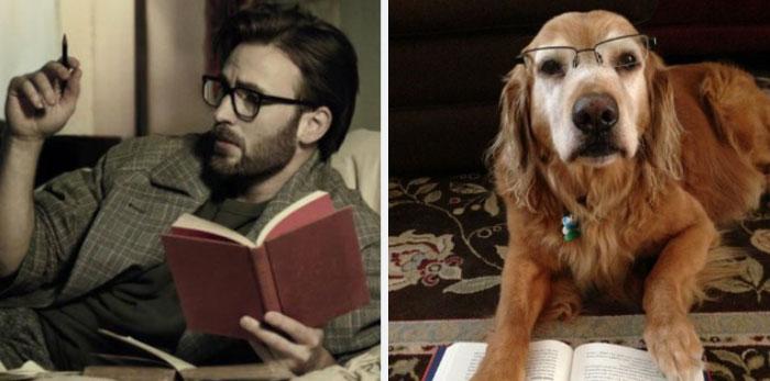 hombre intelectual leyendo