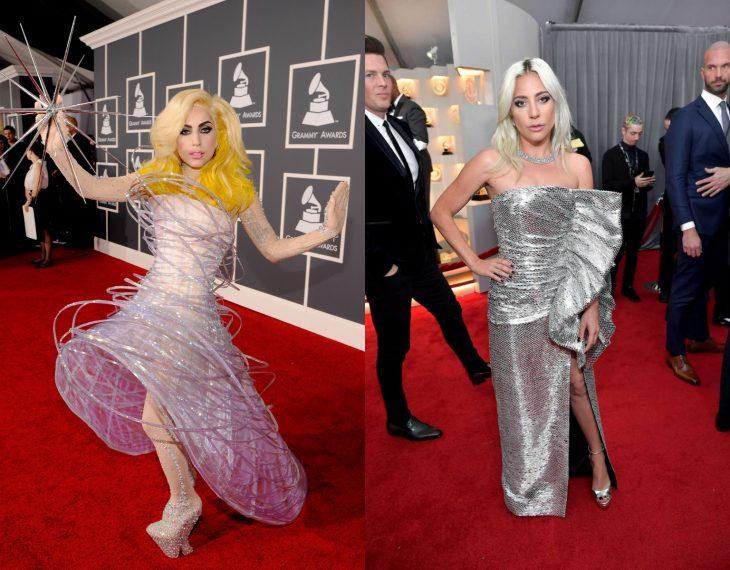 Cuánto cambiaron las celebridades en su primer y último Grammy, Lady Gaga