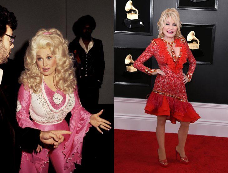 Cuánto cambiaron las celebridades en su primer y último Grammy, Dolly Parton