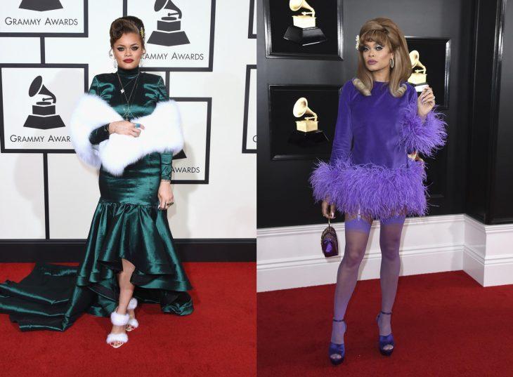 Cuánto cambiaron las celebridades en su primer y último Grammy, Andra Day