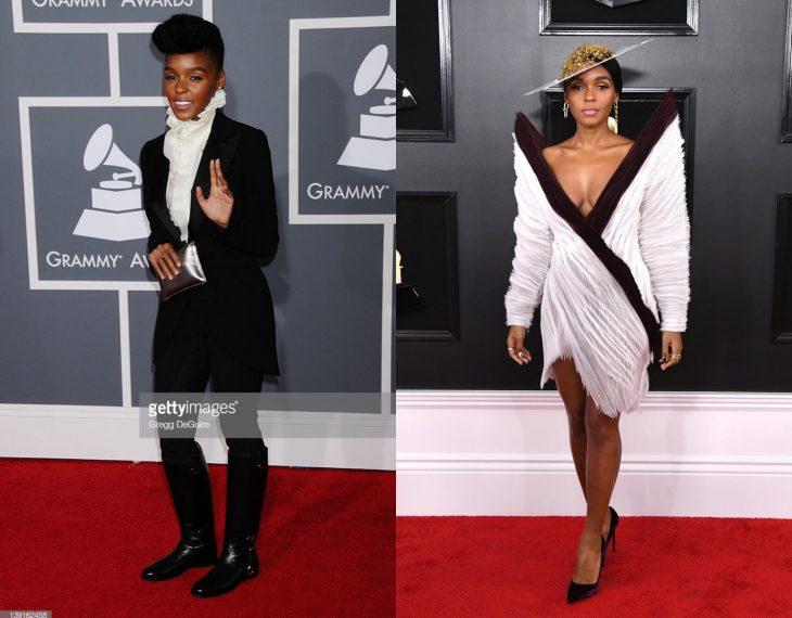 Cuánto cambiaron las celebridades en su primer y último Grammy, Janelle Monae