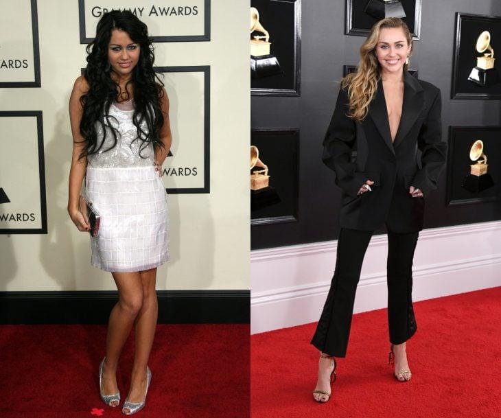 Cuánto cambiaron las celebridades en su primer y último Grammy, Miley Cyrus