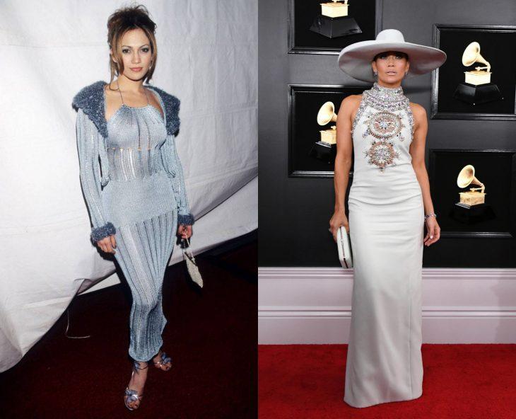 Cuánto cambiaron las celebridades en su primer y último Grammy, Jennifer Lopez