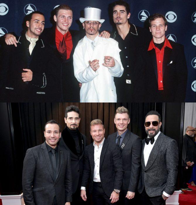 Cuánto cambiaron las celebridades en su primer y último Grammy, Backstreet boys