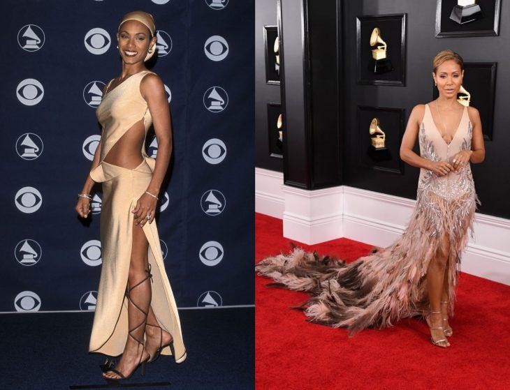 Cuánto cambiaron las celebridades en su primer y último Grammy, Jada Pinkett Smith