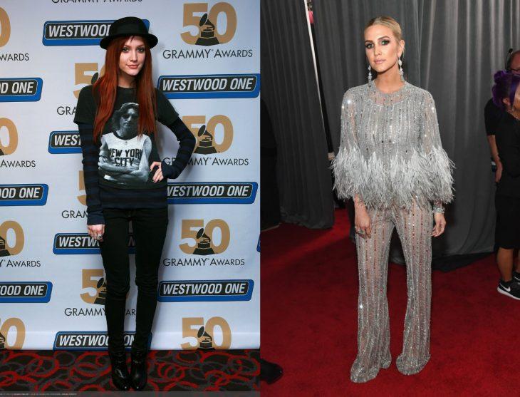 Cuánto cambiaron las celebridades en su primer y último Grammy, Ashley Simpson