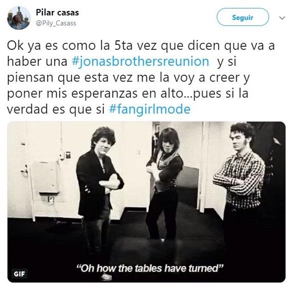 Tuit sobre los Jonas Brothers