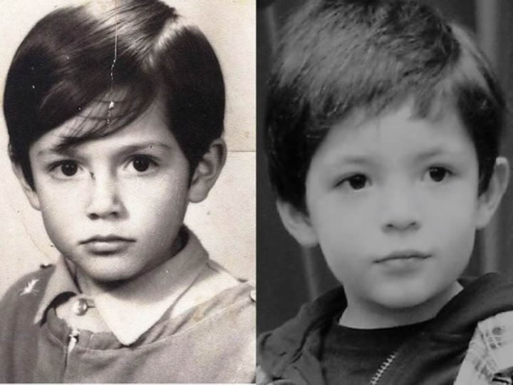 niños con cabello largo