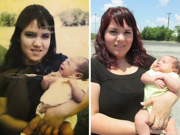 mujeres cargando a un bebé