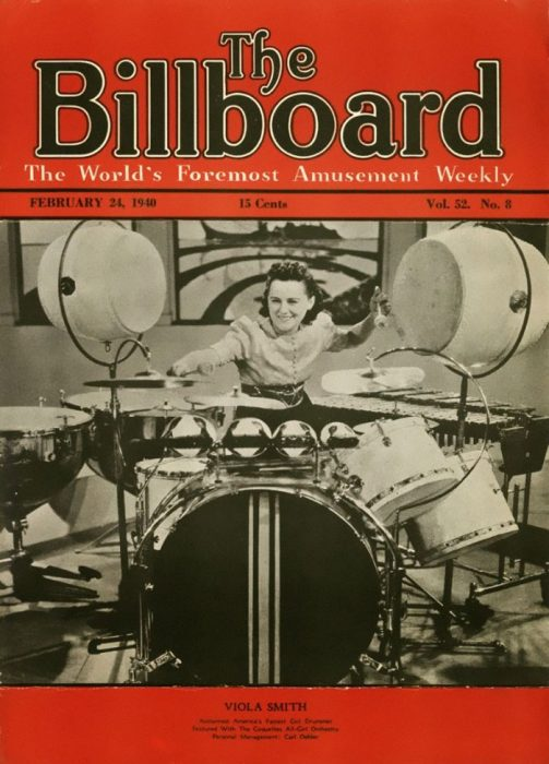 Portada de la revista Billboard con Viola Smith