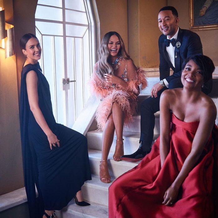 Famosos en los Oscar 2019 fotografiados por Vanity Fair, Jessica Alba, Chrissy Teigen, John Legend y Gabrielle Union