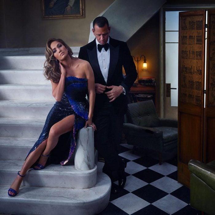 Famosos en los Oscar 2019 fotografiados por Vanity Fair, Jennifer Lopez y Alex Rodriguez