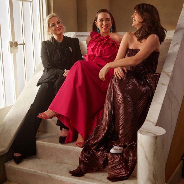 Famosos en los Oscar 2019 fotografiados por Vanity Fair, Amy Poehler, Maya Rudolph y Tina Fey