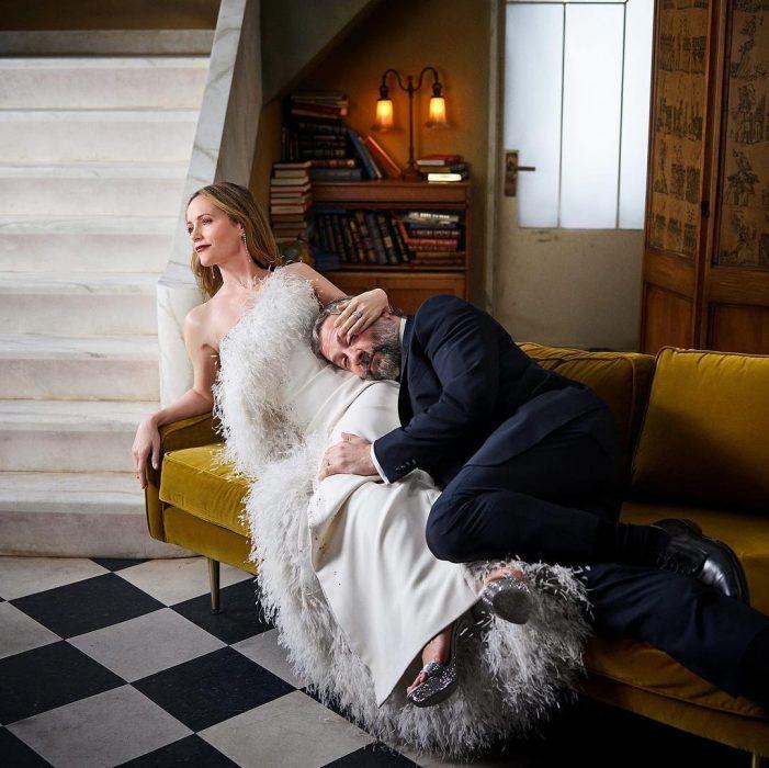 Famosos en los Oscar 2019 fotografiados por Vanity Fair, Leslie Mann y Judd Apatow
