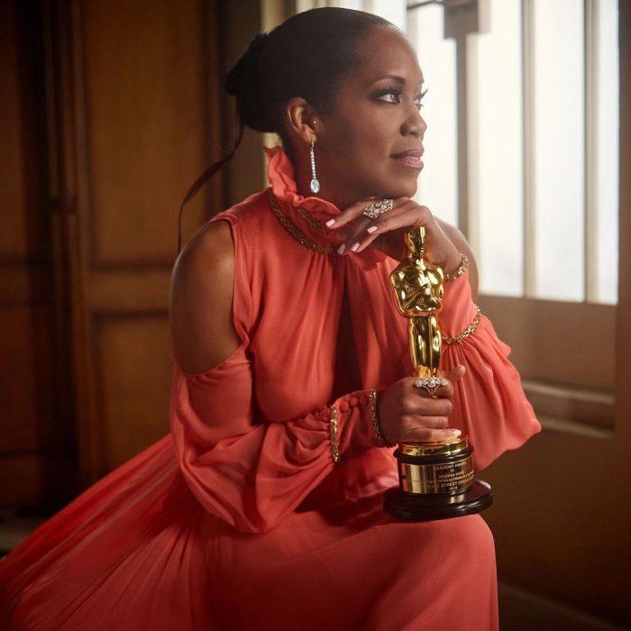 Famosos en los Oscar 2019 fotografiados por Vanity Fair, Regina King