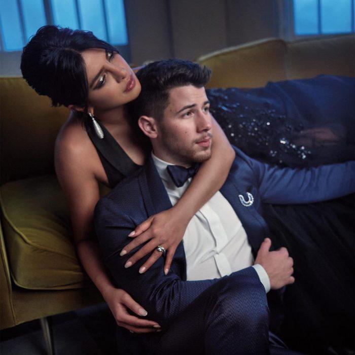 Famosos en los Oscar 2019 fotografiados por Vanity Fair, Nick Jonas y Priyanka Chopra