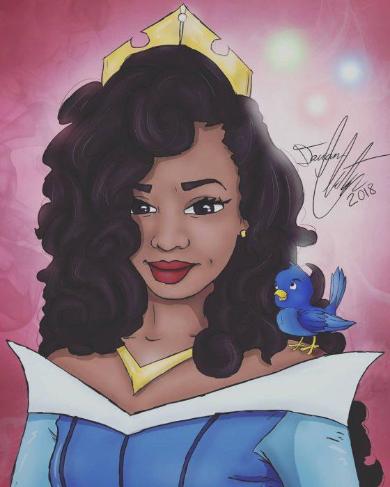 Dibujo de Aurora d ela película La bella durmiente