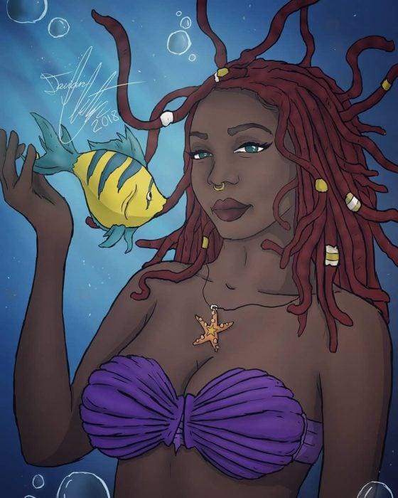 Dibujo de la princesa Ariel