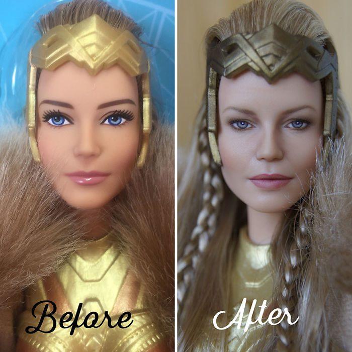 muñeca inspirada en La Mujer Maravilla